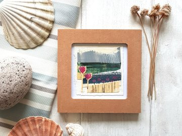 Mini framed collage seascape